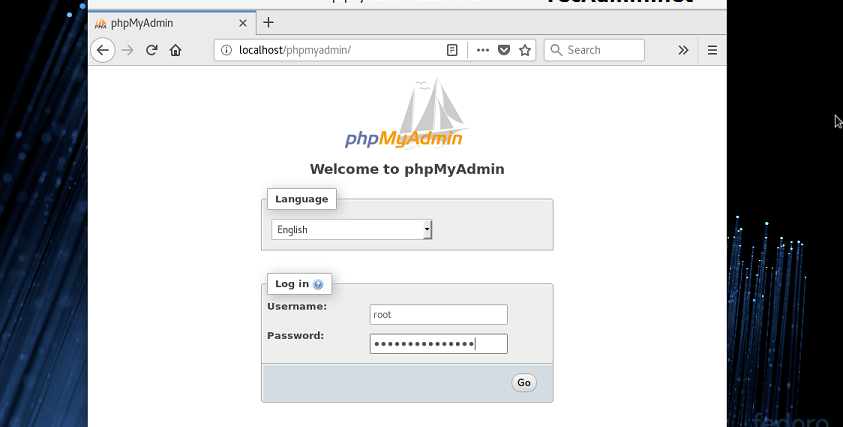 Как установить PhpMyAdmin 4.8 на Fedora 28/27/26