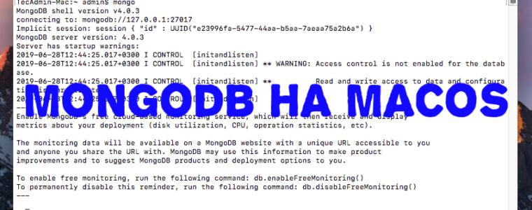 🇮🇹 Как установить MongoDB на MacOS