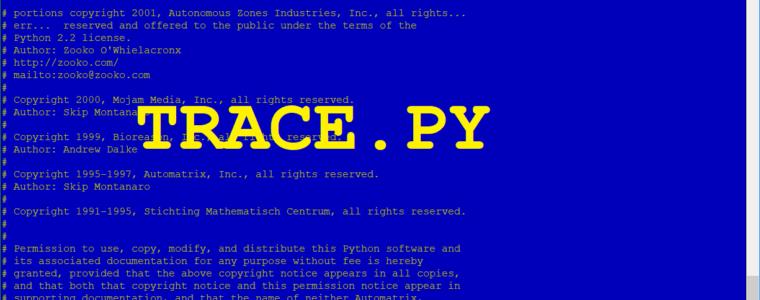 🐍 Как отследить скрипты Python с помощью trace.py