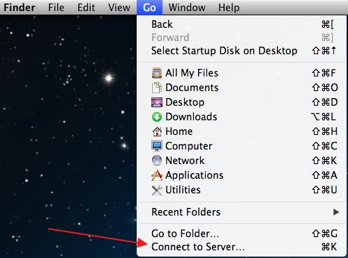 Открыть общий доступ к ОС Windows (SMB) в Mac OS X