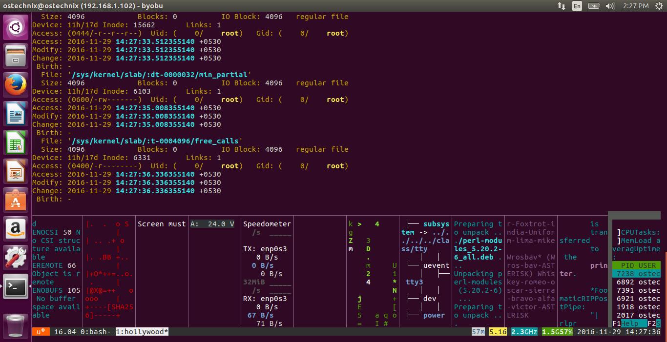 Превратите свой терминал Ubuntu в интерфейс  в Hollywood Technical Melodrama
