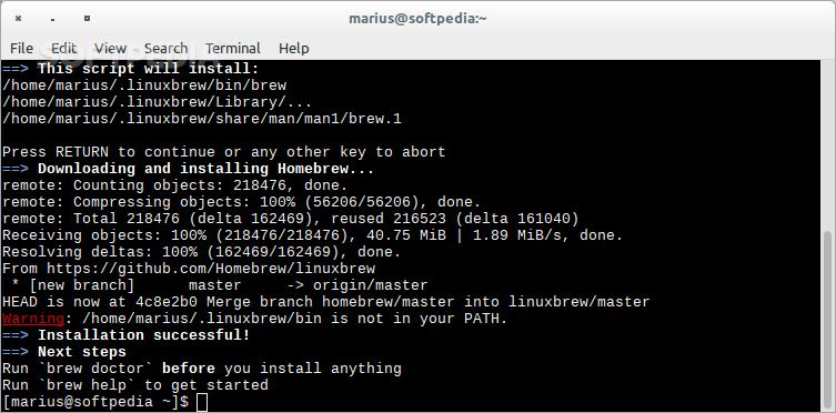 Linuxbrew — общий диспетчер пакетов для Linux и Mac OS X