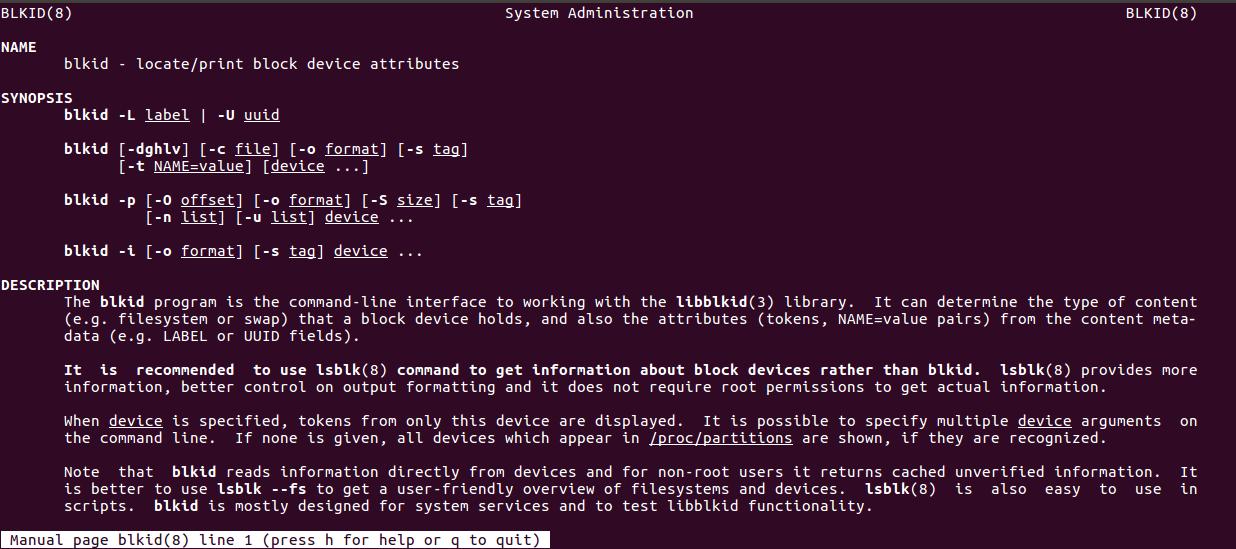 Как найти тип установленной файловой системы в Linux