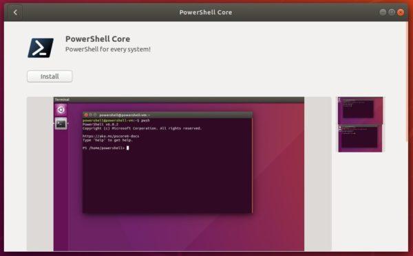 Установите PowerShell легко через Snap в Ubuntu 18.04