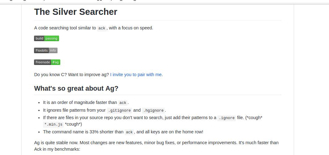 Silver Searcher — инструмент поиска кода для программистов