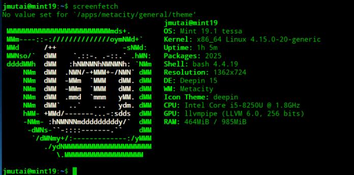 Установка Deepin Desktop Environment в Linux Mint 19 / Ubuntu 18.04