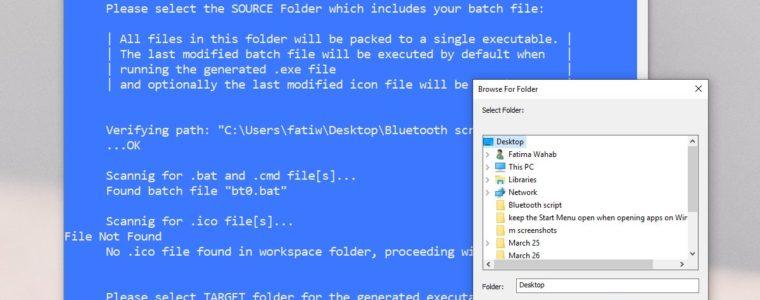 🏬  Как преобразовать BAT-скрипт в EXE на Windows 10