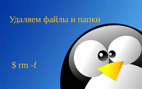 🐧  Как удалить файлы и каталоги в Linux