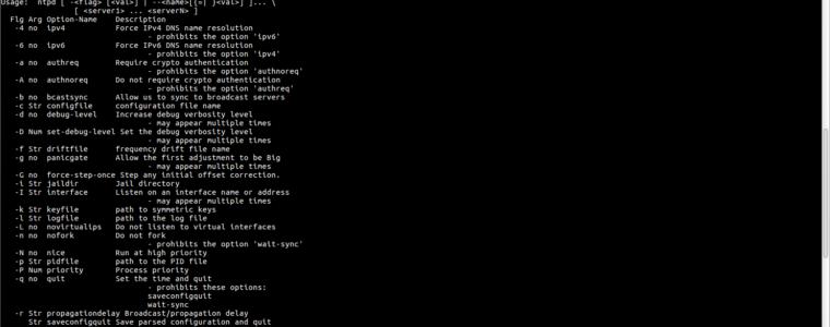 ? Как включить ntpd в режиме отладки в Linux