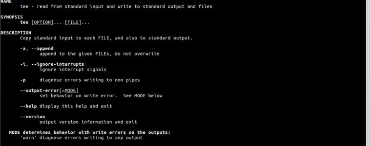 ?  Как использовать команду Tee в Linux