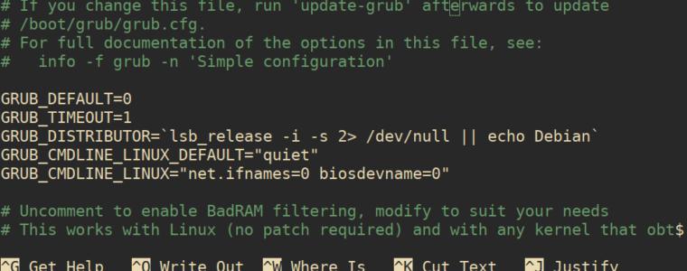 🚦 Как изменить имена сетевых интерфейсов на схему eth0 в Debian 10/9