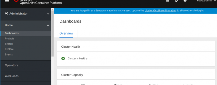 📦 Как настроить локальный кластер OpenShift с CodeReady Containers