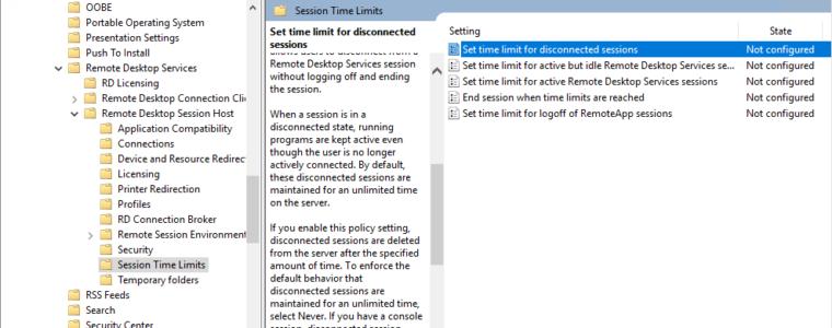 👥 Автоматический выход из сеансов отключенных пользователей в Windows
