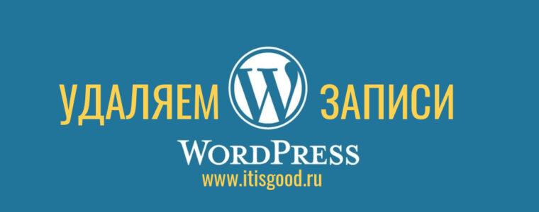 🌐 Как удалить все записи в рубрике WordPress